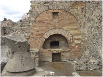 ancient woodfired ovens, Pompei, Italy