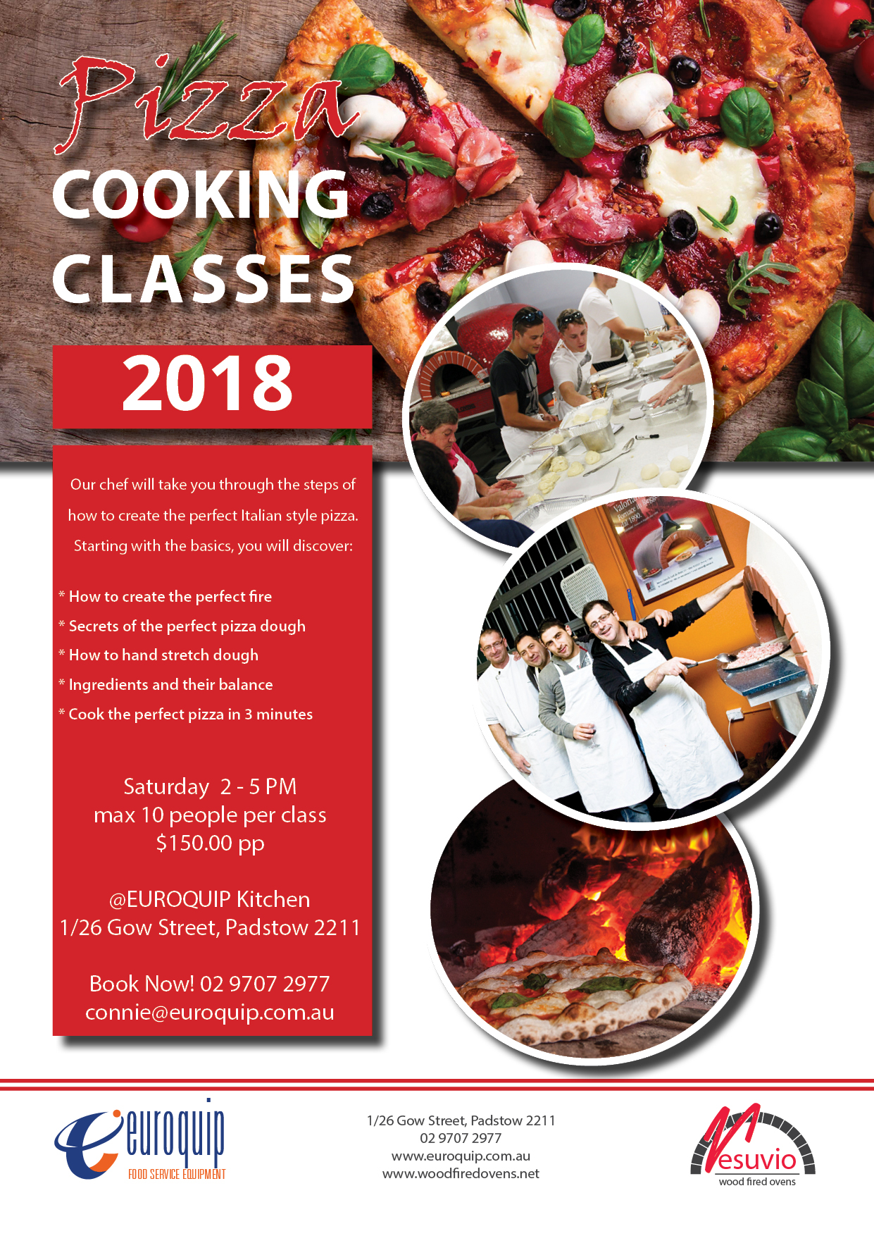 sydney cooking classes, italian cooking classes, wood fired pizza cooking class