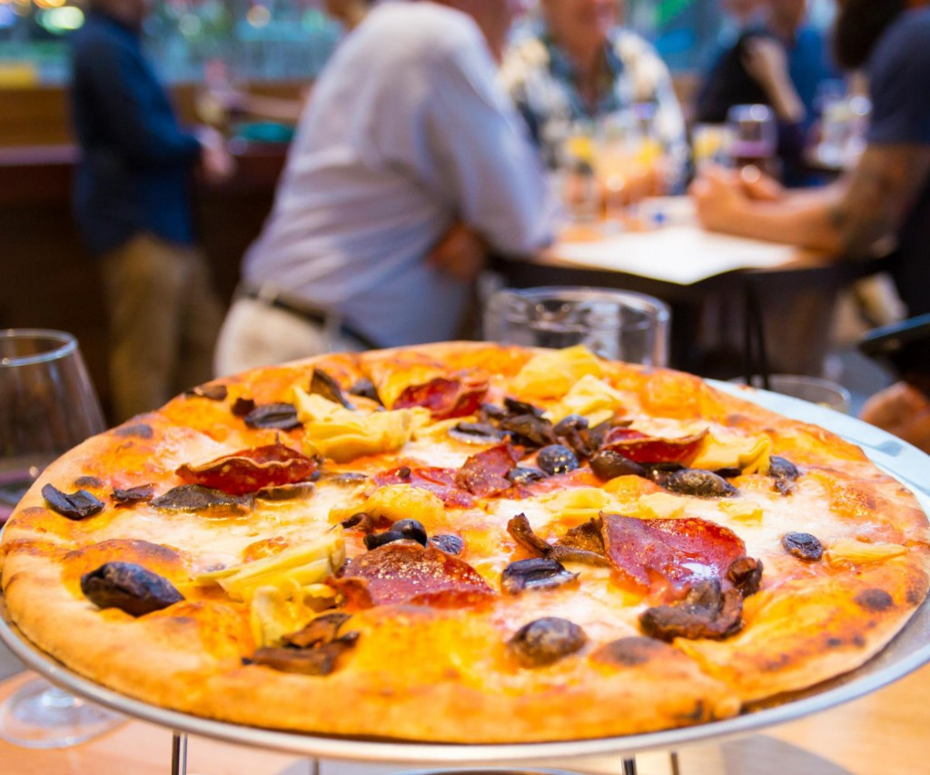 communal bar and eat house brisbane - pizza - wood fired oven