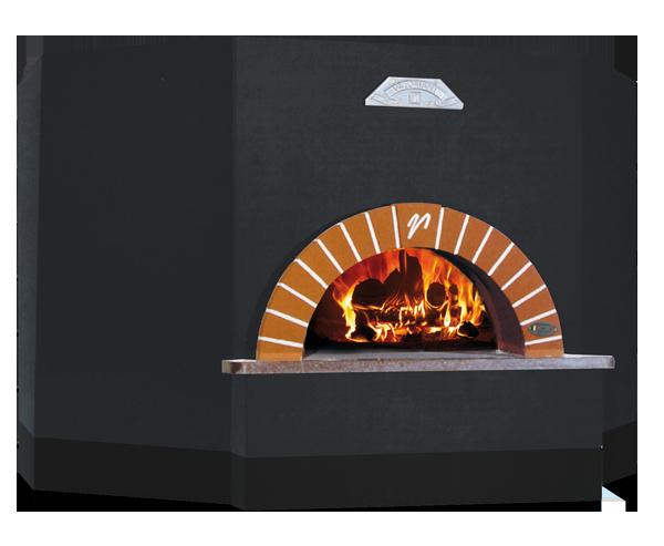 OT series woodfired oven black